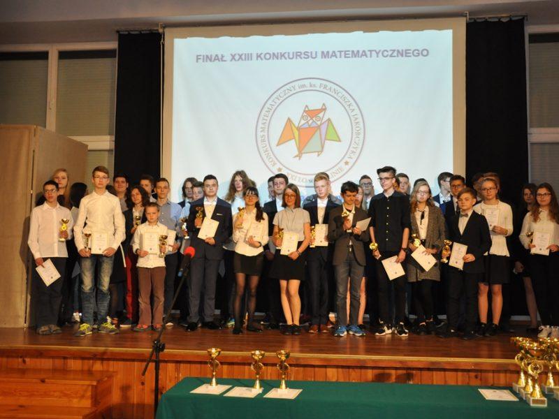 Gala XXIII Konkursu Matematycznego im. ks. dra F. Jakóbczyka