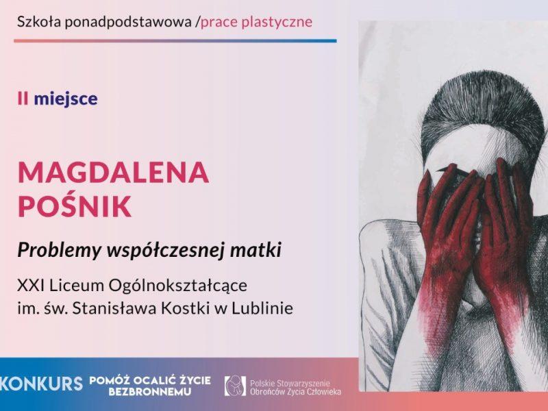 """XVII Ogólnopolski Konkurs dla Młodzieży """"Pomóż ocalić życie bezbronnemu"""""""